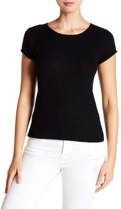 Frame Fitted Rolled Ribbed Merino Blend Tee