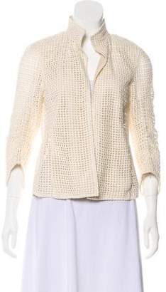 Akris Open Knit Jacket