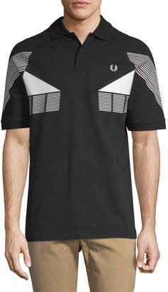 Fred Perry Men's Stripe Graphic Polo Shirt