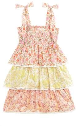 Zimmermann Goldie Shirred Tiered Dress