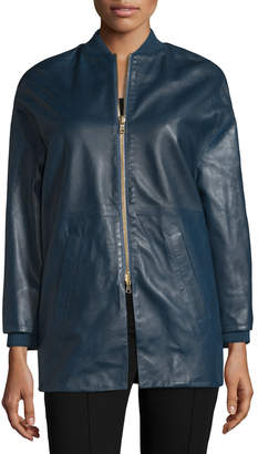 RED Valentino Leather Bomber Jacket, Bucaneve