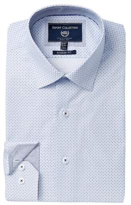Report Collection Modern Fit Polka Dot Dress Shirt