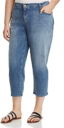 Eileen Fisher Plus Cropped Tapered Jeans in Absolute Blue
