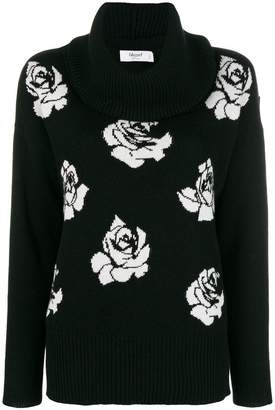 Blugirl floral roll neck sweater