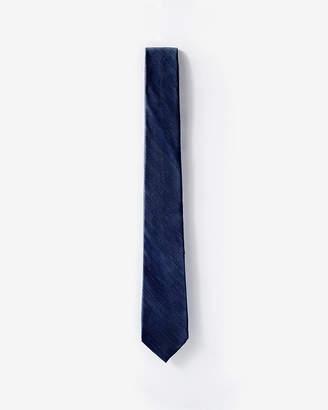Express Textured Solid Narrow Silk Tie