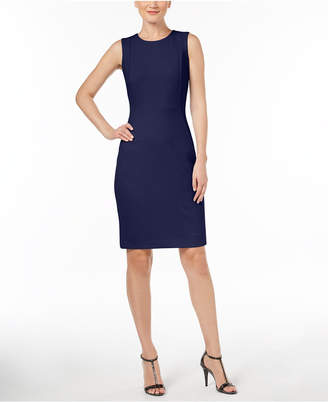 Calvin Klein Scuba Crepe Sheath Dress, Regular & Petite Sizes