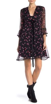 Anna Sui Bow Front Chiffon Dress