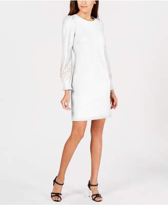 Calvin Klein Embellished Puff-Sleeve Dress