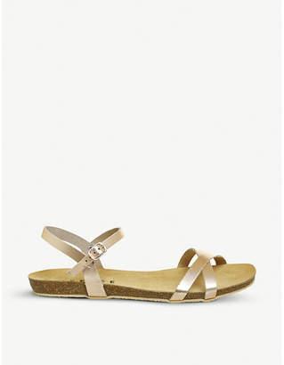 Office Safari criss-cross leather sandals