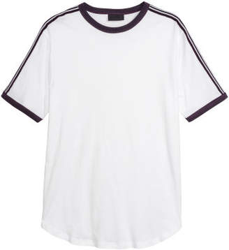 H&M T-shirt with Side Stripes - Purple