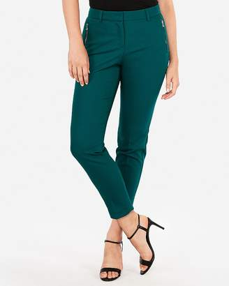 Express Mid Rise Zip Pocket Ankle Curve Pant