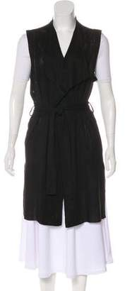 Joan Vass Perforated Longline Vest