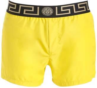 Versace Underwear Logo Nylon Swim Shorts