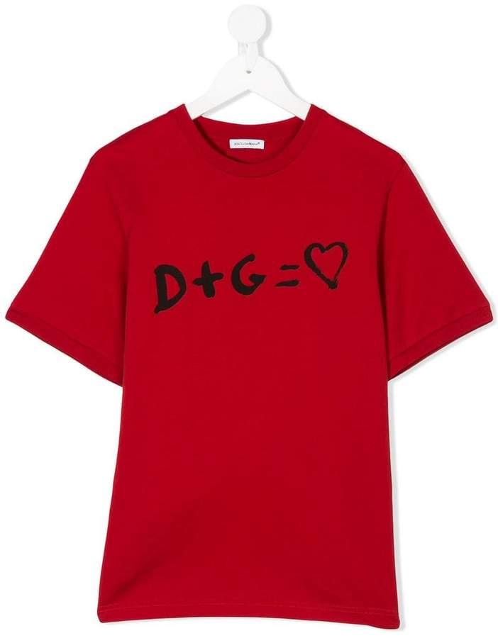 Dolce & Gabbana Kids D+G print T-shirt