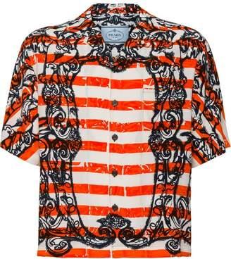 Prada embroidered short-sleeve shirt