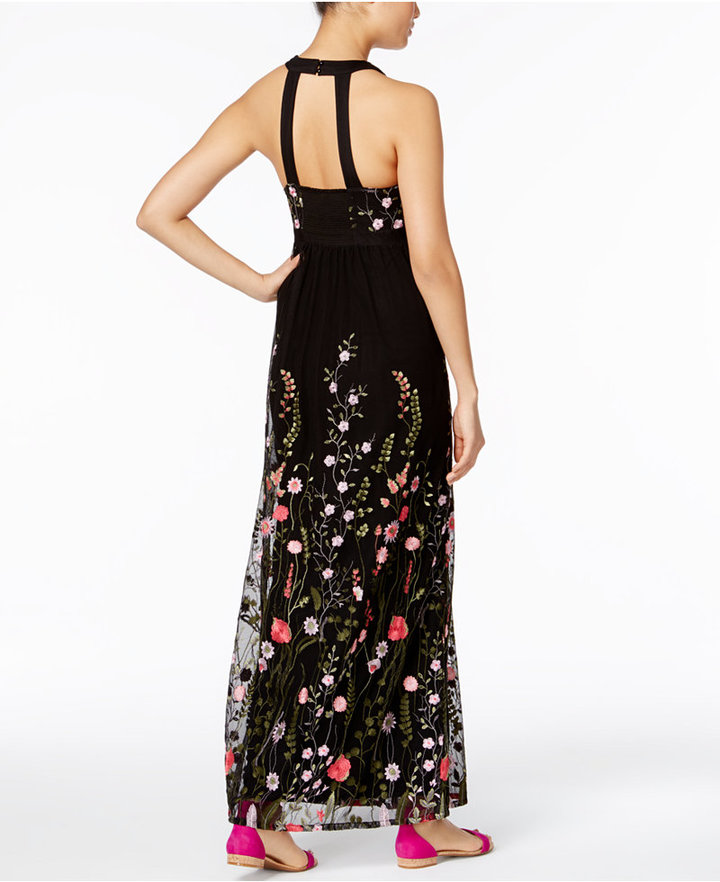 INC International Concepts Embroidered Open-Back Maxi Dress, Only at Macy's 2