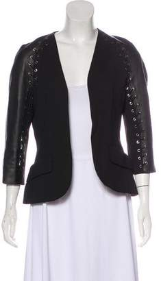 Pierre Balmain Leather Trimmed Blazer