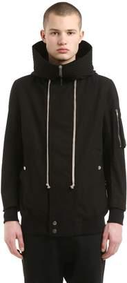Rick Owens Hooded Zip Light Cotton Jacket