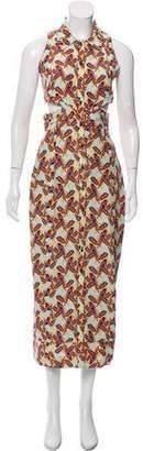 Cinq à Sept Printed Cutout Maxi Dress