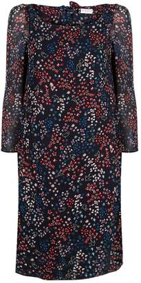 Claudie Pierlot Floral Crepe Dress