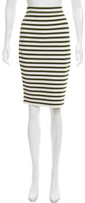 A.L.C. Striped Knee-Length Skirt