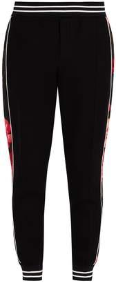 Alexander McQueen Floral-panel track pants