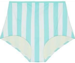 Solid & Striped The Brigitte Striped High-Rise Bikini Briefs