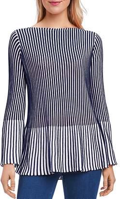 Foxcroft Ribbed Peplum Sweater