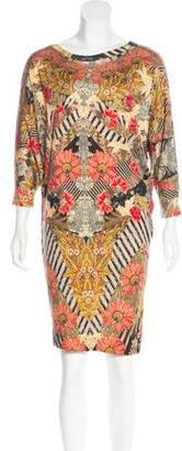 Alexander McQueen Floral Printed Knee-Length Dress