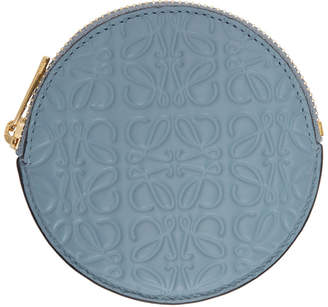 Loewe Blue Anagram Cookie Zip Coin Pouch