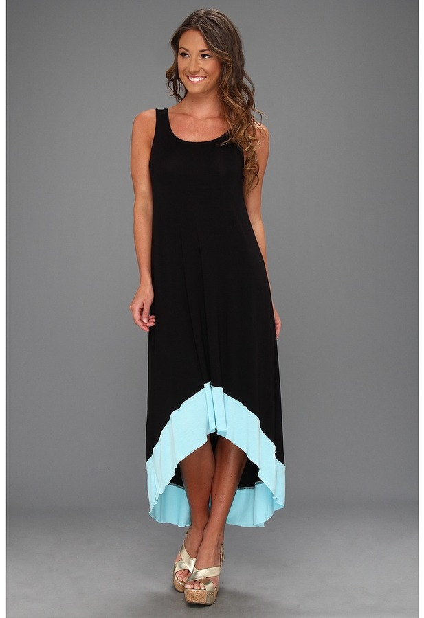Kensie High-Low Dress KS6K9459 (Black Combo) - Apparel