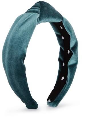 ecf7beb272f Lele Sadoughi Teal Velvet Headband