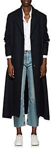 The Row Women's Dranner Cotton-Wool Belted Trench Coat - Navy