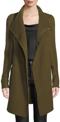 Rick Owens Eileen Side-Zip Double-Breasted Cashmere Coat