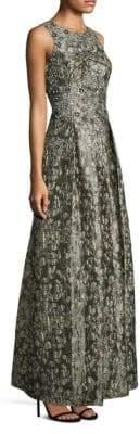 Aidan Mattox Sleeveless Bodice Brocade Gown