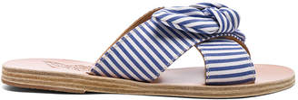 Ancient Greek Sandals Stripe Thais Bow Sandals