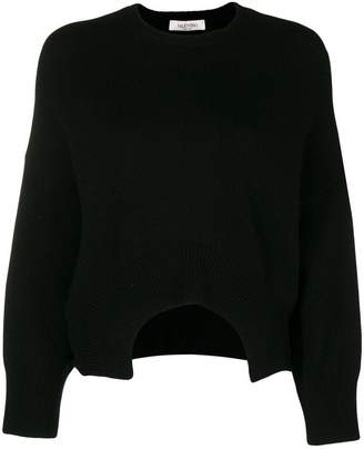 Valentino cutout cropped jumper