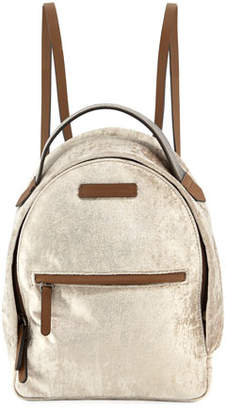 Brunello Cucinelli Medium Velvet Backpack with Monili Strap