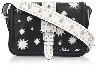 RED Valentino Black And White Star Printed Crossbody Bag