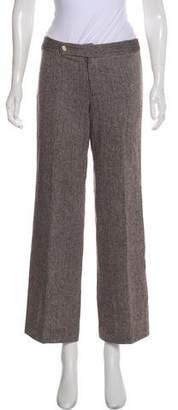 Tory Burch Mid-Rise Wide-Leg Pants