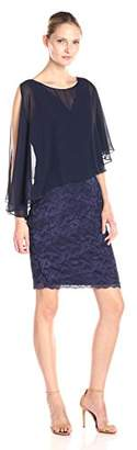 Marina Women's Lace Dress with Sheer Overlay $151.34 thestylecure.com