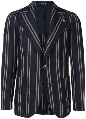 Tagliatore striped buttoned blazer
