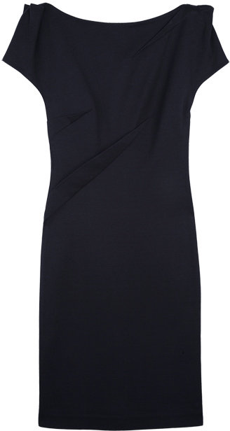 Nathan Jenden Navy Asephia Fitted Dress
