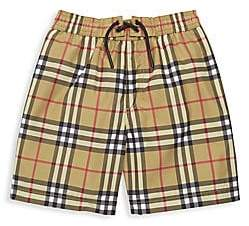 Burberry Little Boy's & Boy's Galvin Check Swim Trunks