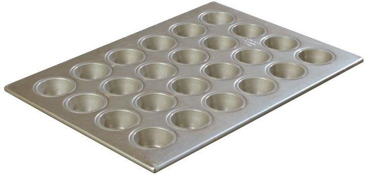 Carlisle Steeluminum 24-Cup Heavy Duty Mini-Muffin/Cupcake Pan, 1.75 oz./Cup (Case of 6)