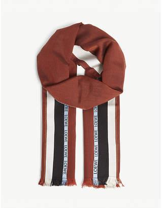 Loewe Logo silk-blend scarf