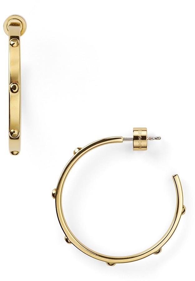 MICHAEL Michael Kors Michael Kors Small Gold Screw Hoop Earrings