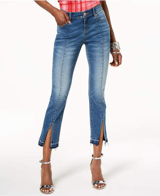 INC International Concepts I.N.C. Curvy-Fit Split-Hem Cropped Jeans, Created for Macy's
