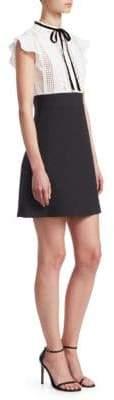 Maje Runo Ruffled Cap-Sleeve Dress