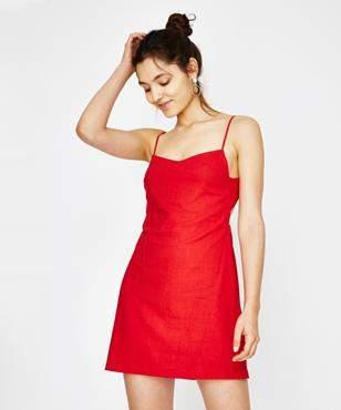 Alice In The Eve Ebonee Tie Back Dress Vermillion Red